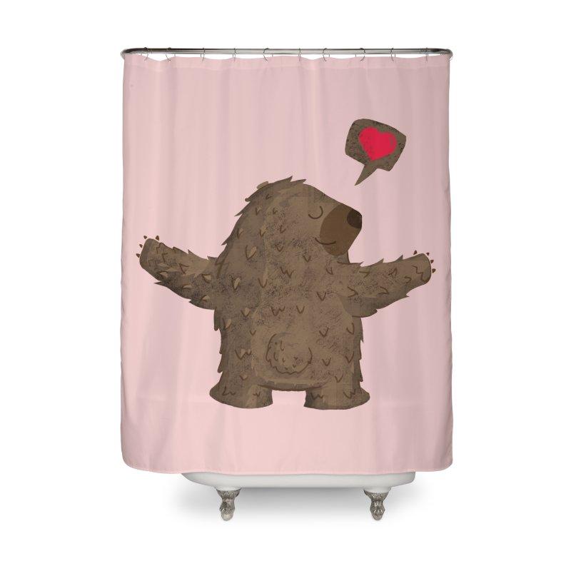 Big Hug Home Shower Curtain by Rocket Artist Shop