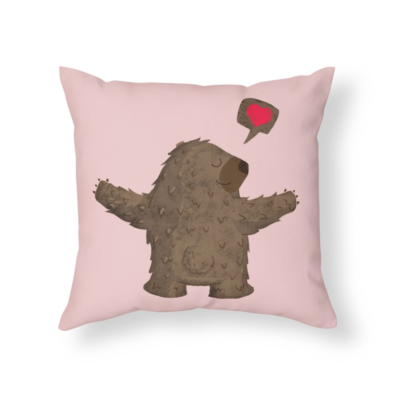 Big Hug Home Throw Pillow by Rocket Artist Shop