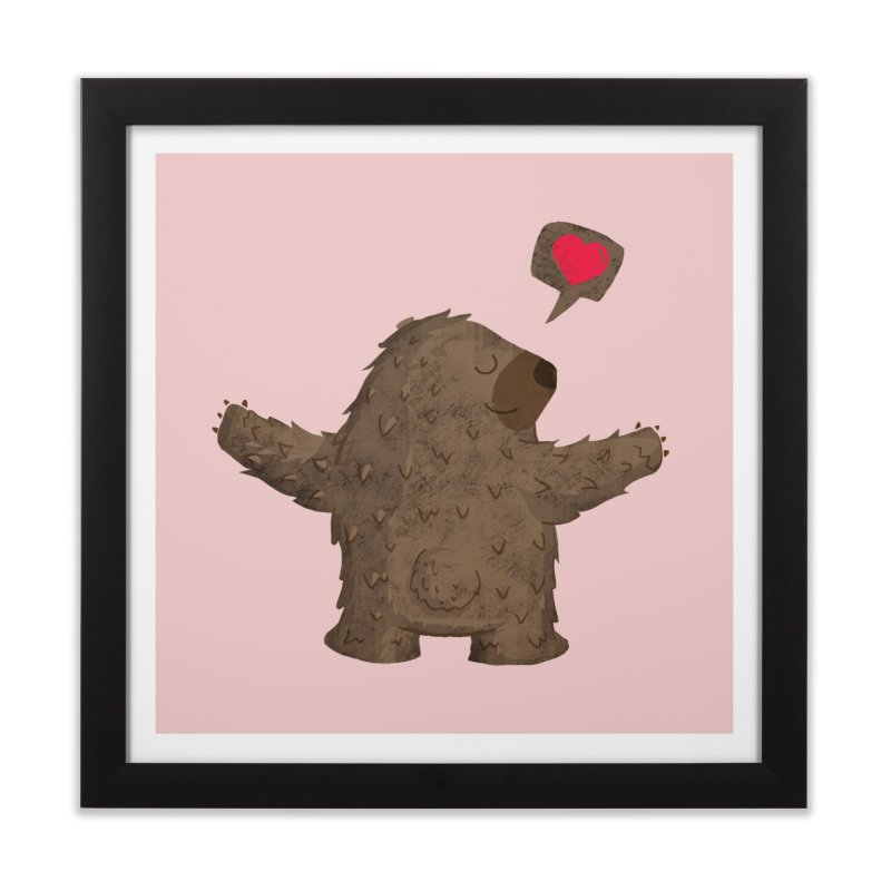 Big Hug Home Framed Fine Art Print by Rocket Artist Shop