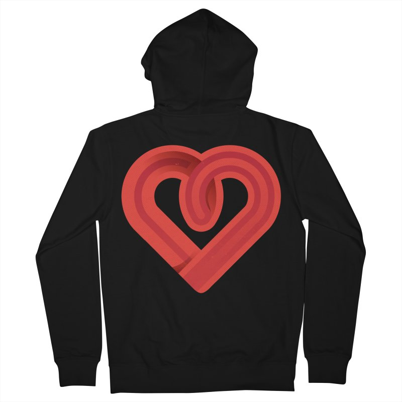 In the name of love Women's French Terry Zip-Up Hoody by Rocket Artist Shop