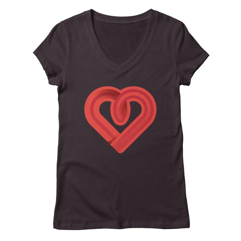 In the name of love Women's Regular V-Neck by Rocket Artist Shop