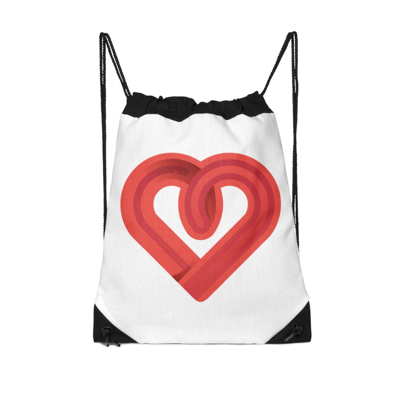 In the name of love Accessories Drawstring Bag Bag by Rocket Artist Shop