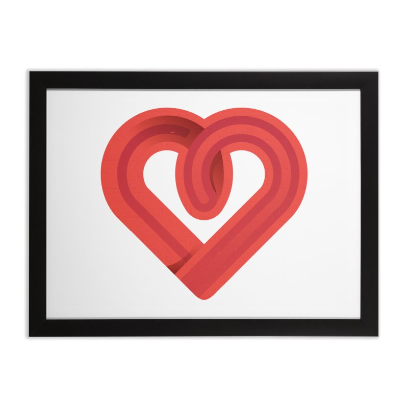 In the name of love Home Framed Fine Art Print by Rocket Artist Shop