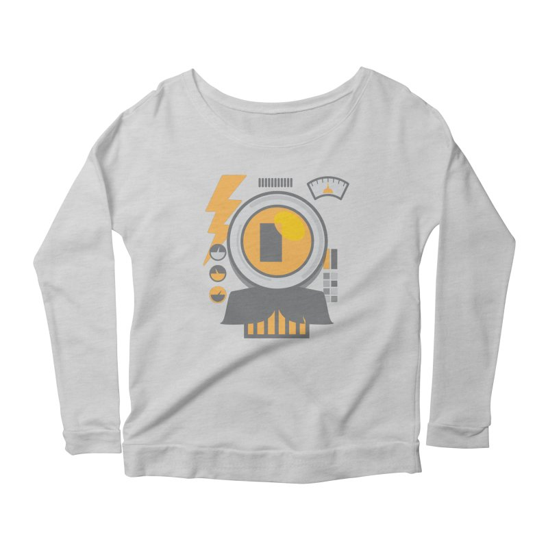 MR RoBT Women's Scoop Neck Longsleeve T-Shirt by Rocket Artist Shop