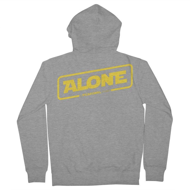 Alone Women's Zip-Up Hoody by Rocket Artist Shop