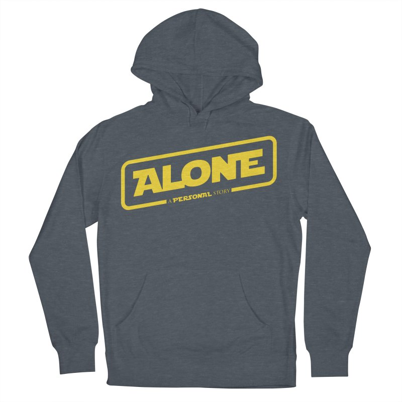 Alone Men's French Terry Pullover Hoody by Rocket Artist Shop