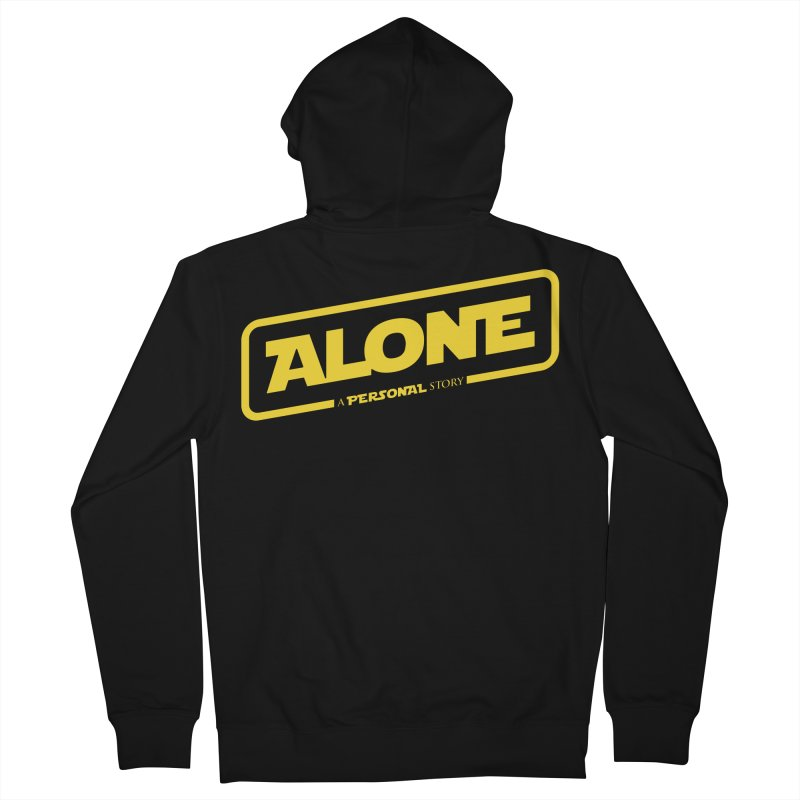 Alone Women's French Terry Zip-Up Hoody by Rocket Artist Shop
