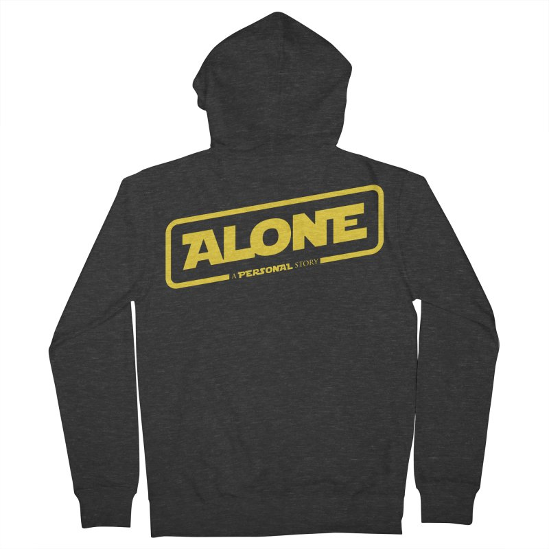 Alone Men's French Terry Zip-Up Hoody by Rocket Artist Shop