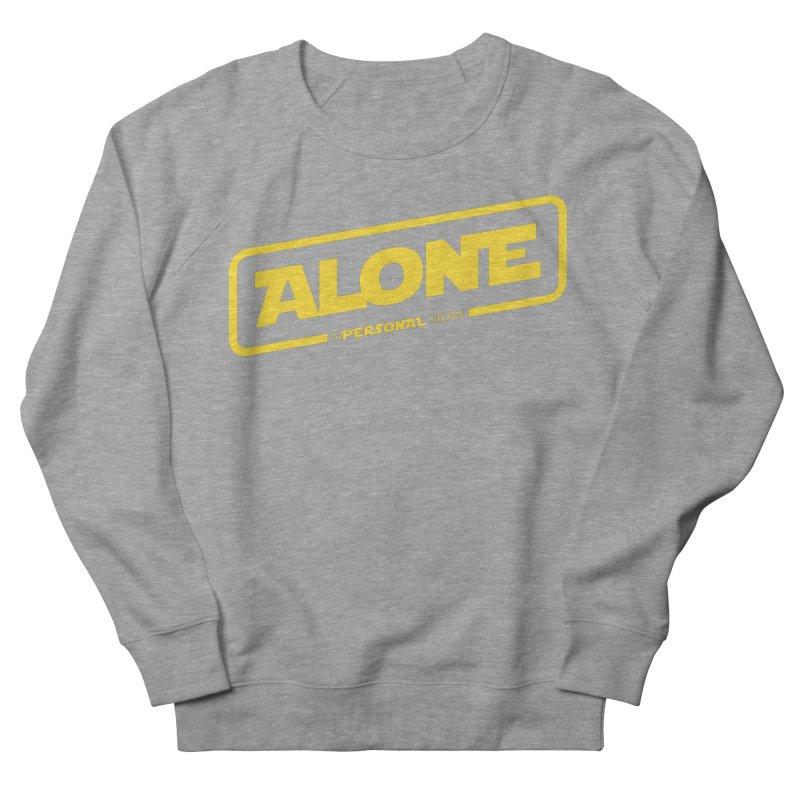 Alone Women's French Terry Sweatshirt by Rocket Artist Shop