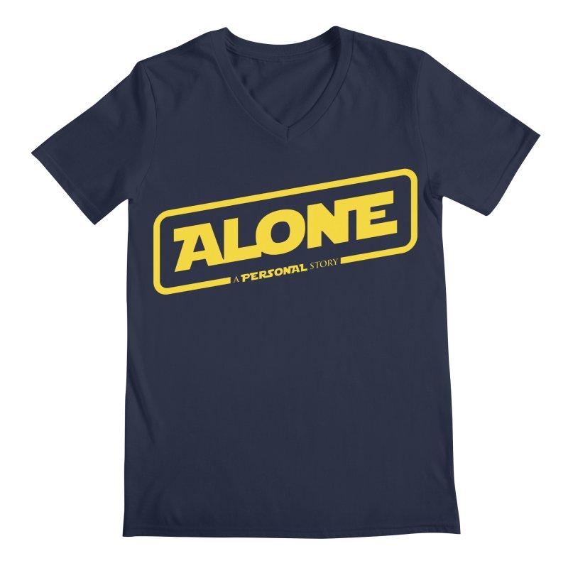 Alone Men's Regular V-Neck by Rocket Artist Shop