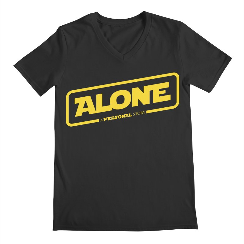 Alone Men's Regular V-Neck by Rocket Artist Shop