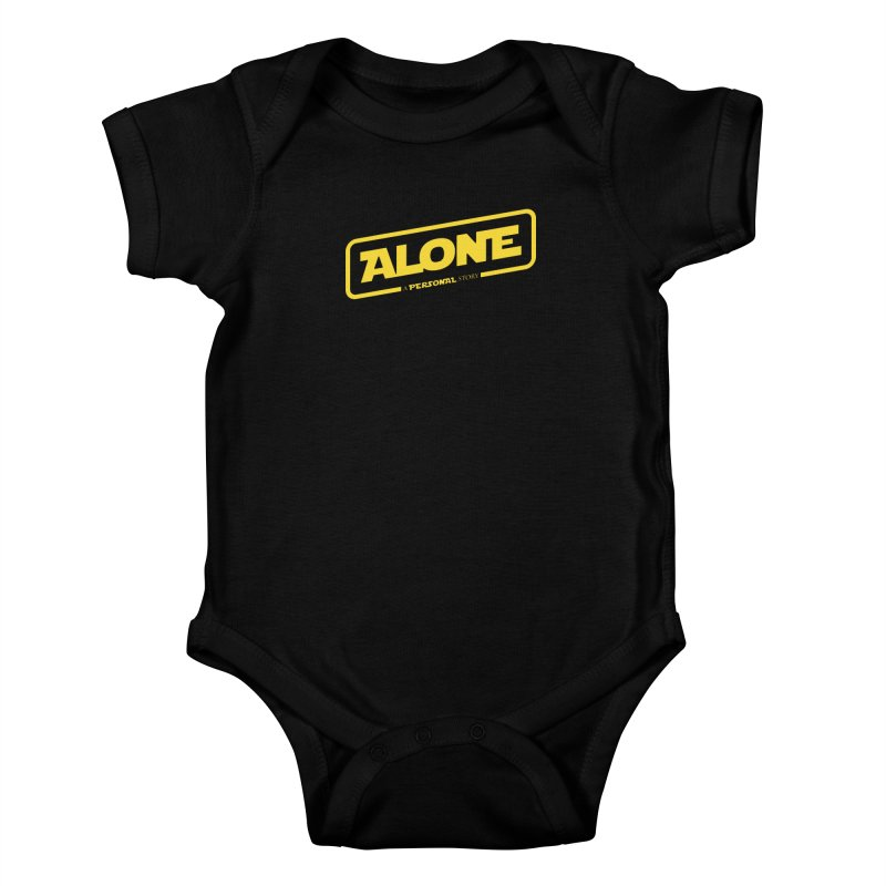 Alone Kids Baby Bodysuit by Rocket Artist Shop
