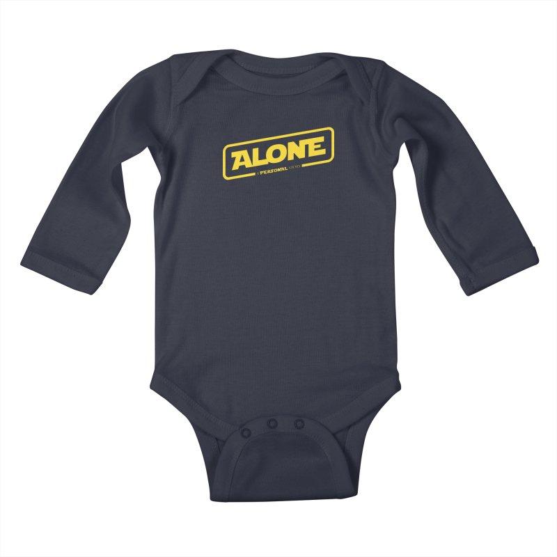 Alone Kids Baby Longsleeve Bodysuit by Rocket Artist Shop