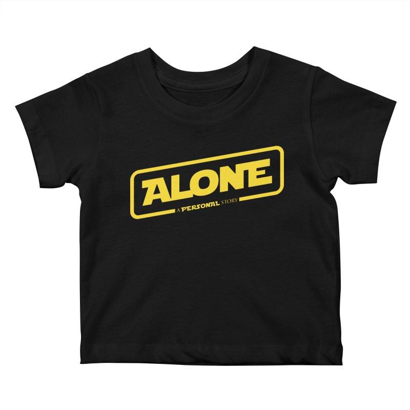 Alone Kids Baby T-Shirt by Rocket Artist Shop