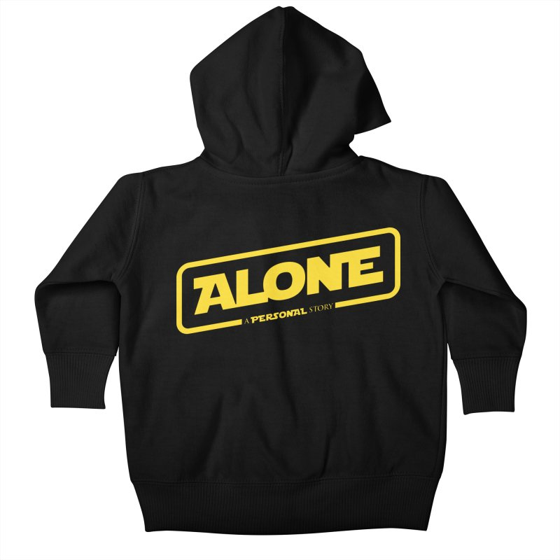 Alone Kids Baby Zip-Up Hoody by Rocket Artist Shop