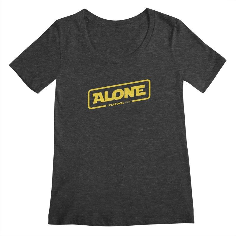 Alone Women's Scoopneck by Rocket Artist Shop