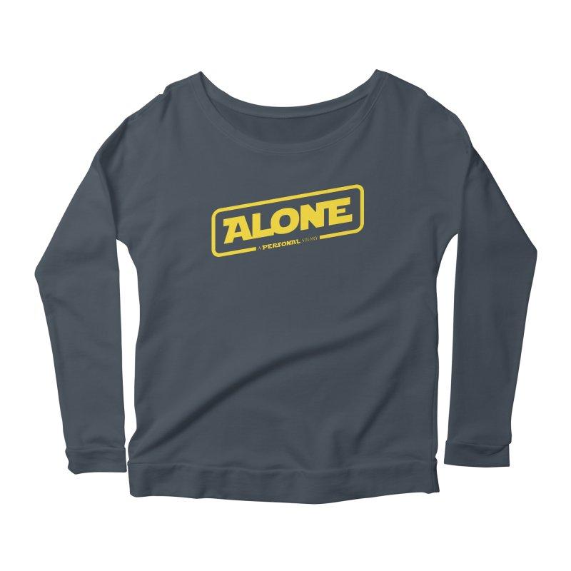 Alone Women's Longsleeve Scoopneck  by Rocket Artist Shop