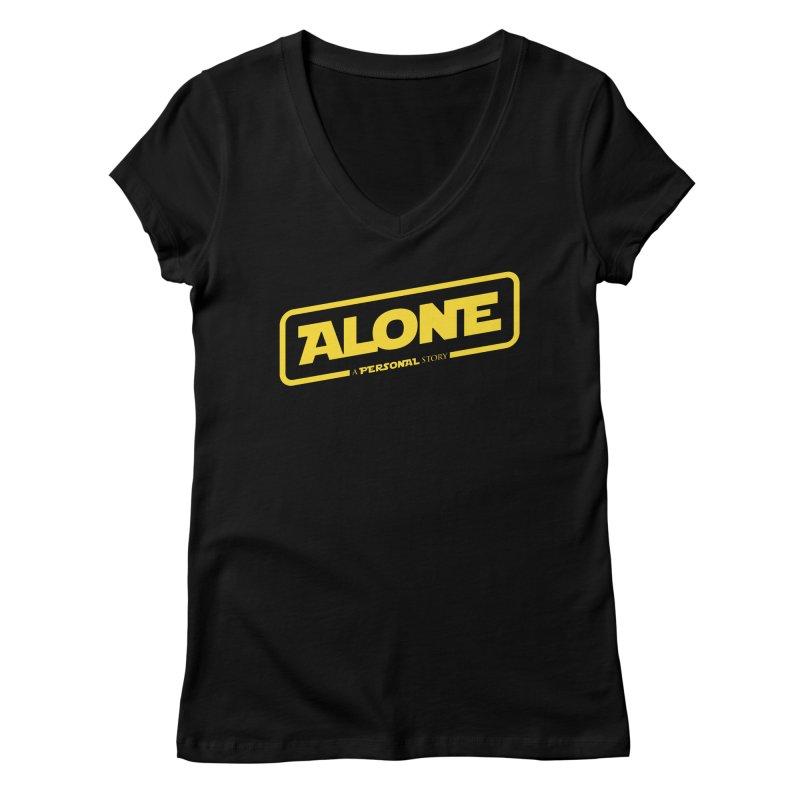 Alone Women's Regular V-Neck by Rocket Artist Shop