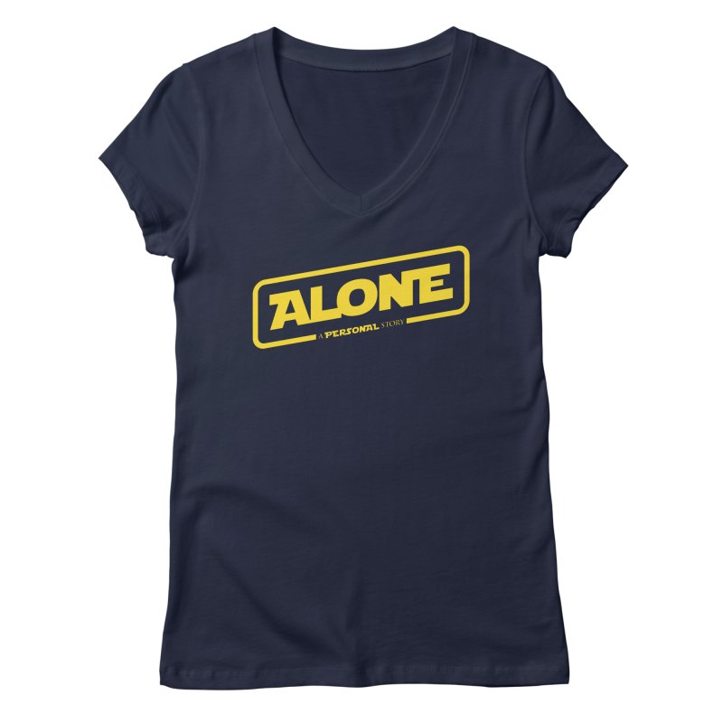 Alone Women's V-Neck by Rocket Artist Shop