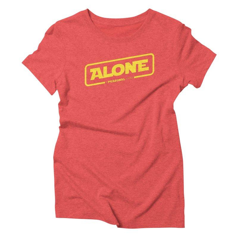 Alone Women's Triblend T-Shirt by Rocket Artist Shop