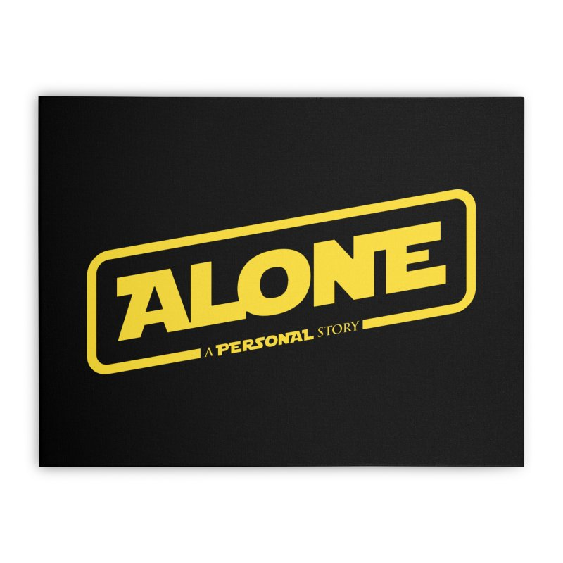 Alone Home Stretched Canvas by Rocket Artist Shop