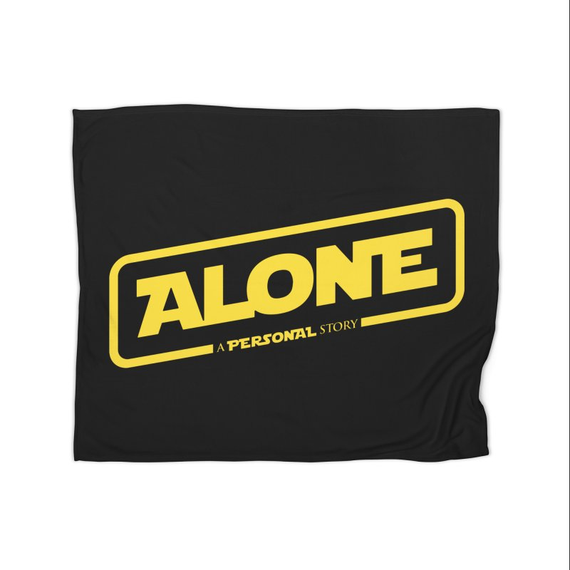 Alone Home Fleece Blanket Blanket by Rocket Artist Shop