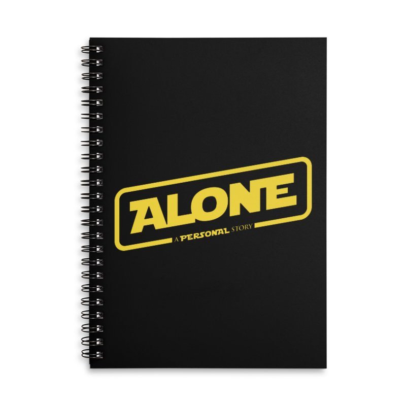 Alone Accessories Lined Spiral Notebook by Rocket Artist Shop