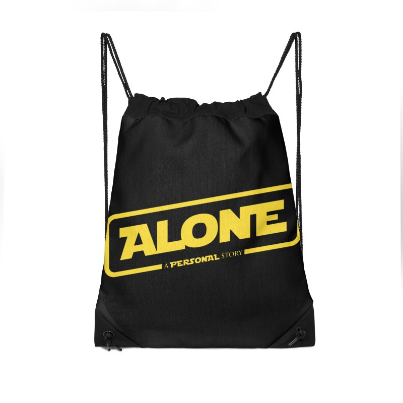 Alone Accessories Drawstring Bag Bag by Rocket Artist Shop