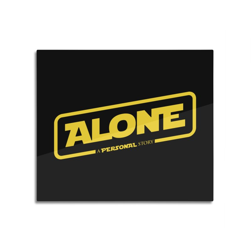 Alone Home Mounted Aluminum Print by Rocket Artist Shop
