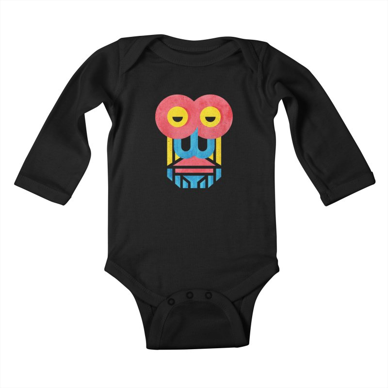 Monkey Business Kids Baby Longsleeve Bodysuit by Rocket Artist Shop