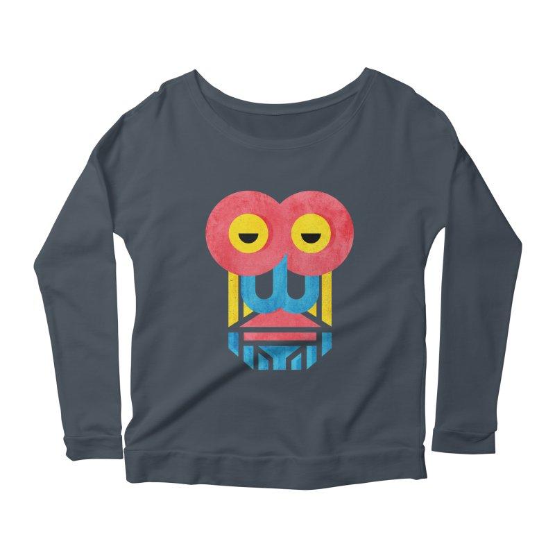 Monkey Business Women's Scoop Neck Longsleeve T-Shirt by Rocket Artist Shop
