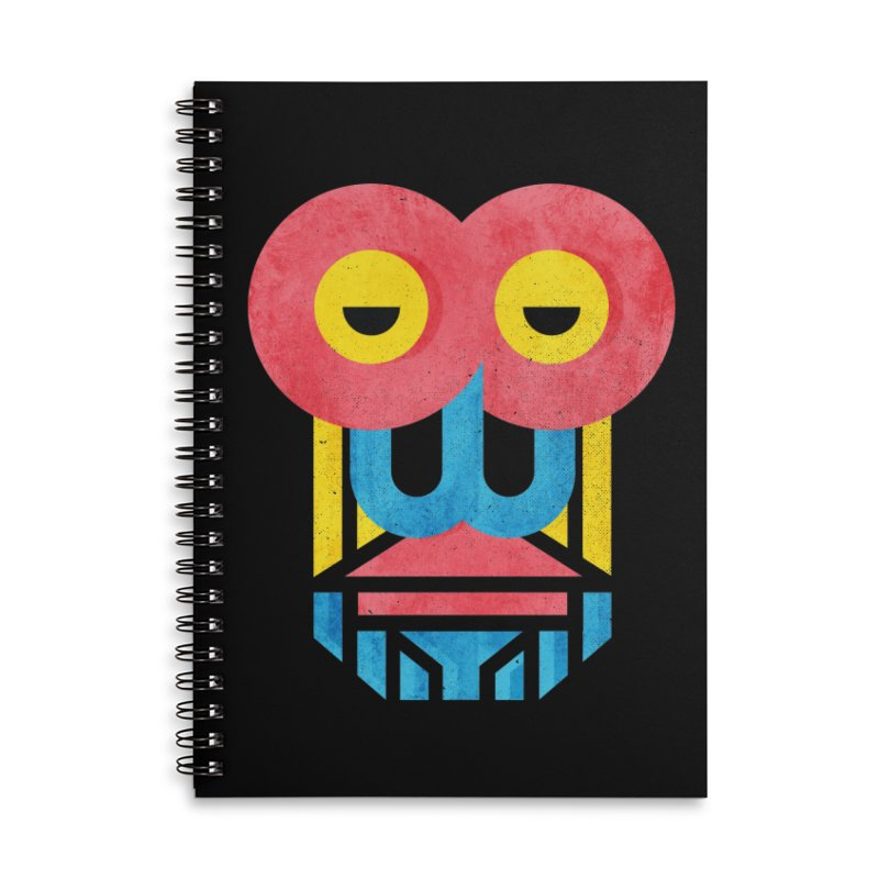 Monkey Business Accessories Lined Spiral Notebook by Rocket Artist Shop