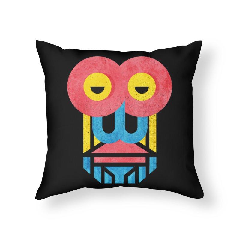 Monkey Business Home Throw Pillow by Rocket Artist Shop