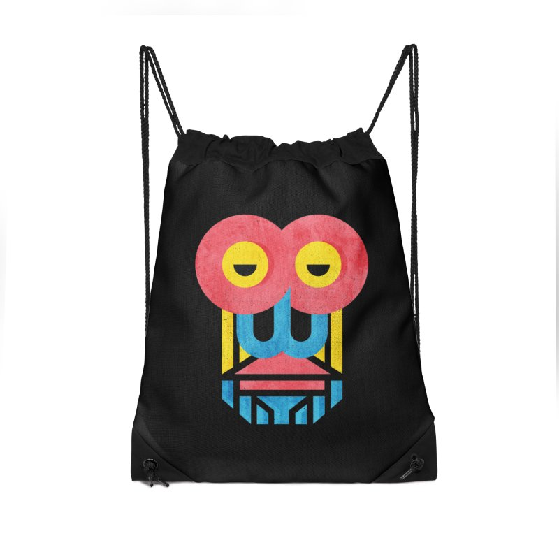 Monkey Business Accessories Drawstring Bag Bag by Rocket Artist Shop