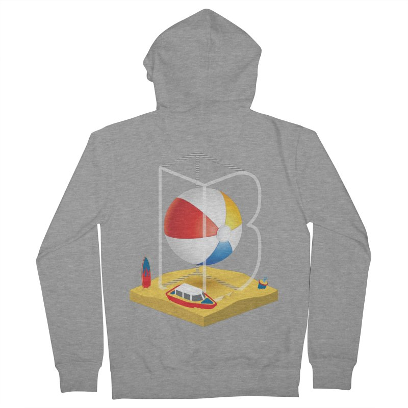 B is for,,, Women's French Terry Zip-Up Hoody by Rocket Artist Shop