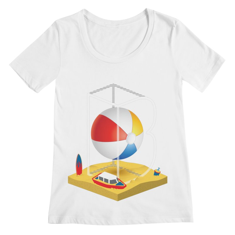 B is for,,, Women's Regular Scoop Neck by Rocket Artist Shop