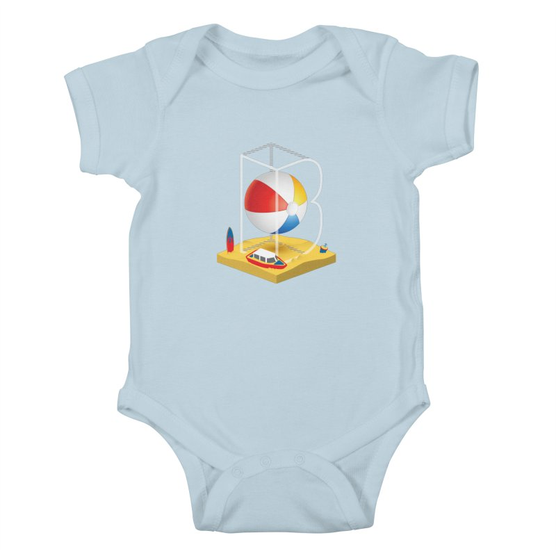 B is for,,, Kids Baby Bodysuit by Rocket Artist Shop