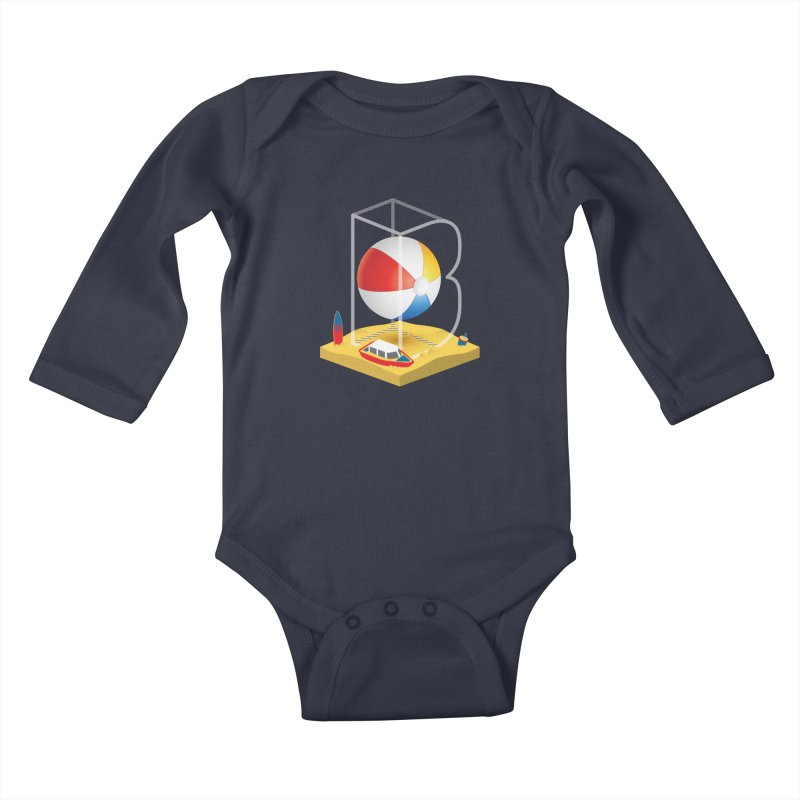 B is for,,, Kids Baby Longsleeve Bodysuit by Rocket Artist Shop