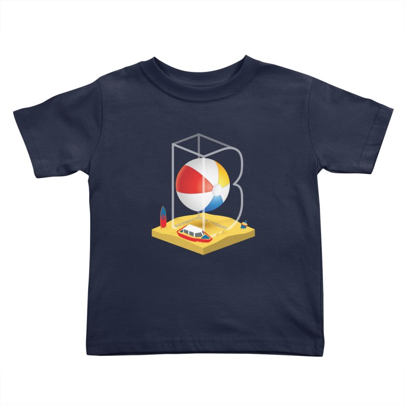 B is for,,, Kids Toddler T-Shirt by Rocket Artist Shop
