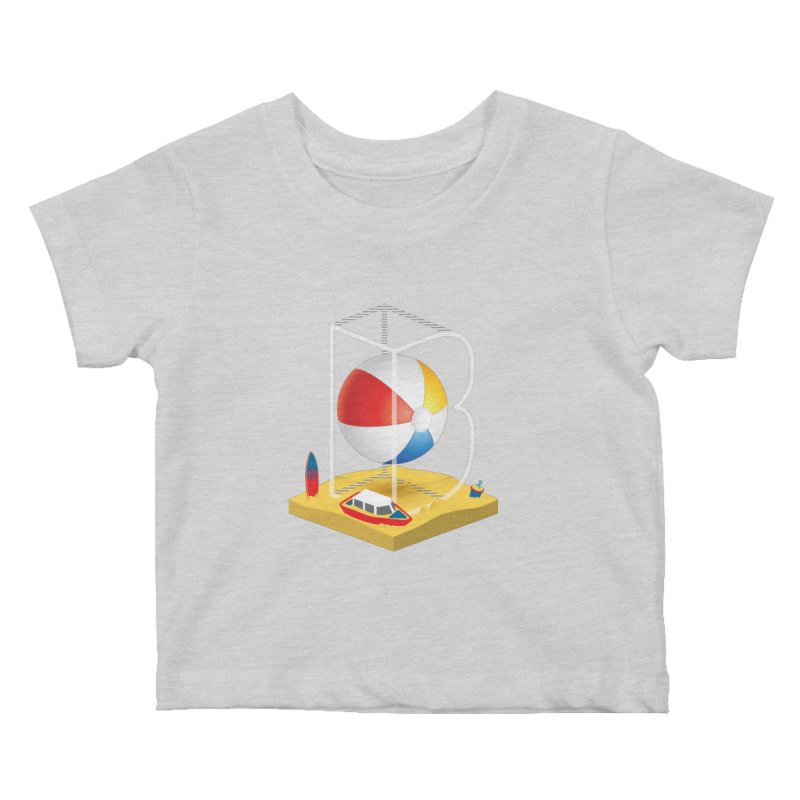 B is for,,, Kids Baby T-Shirt by Rocket Artist Shop