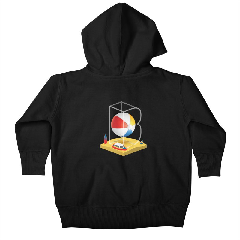 B is for,,, Kids Baby Zip-Up Hoody by Rocket Artist Shop