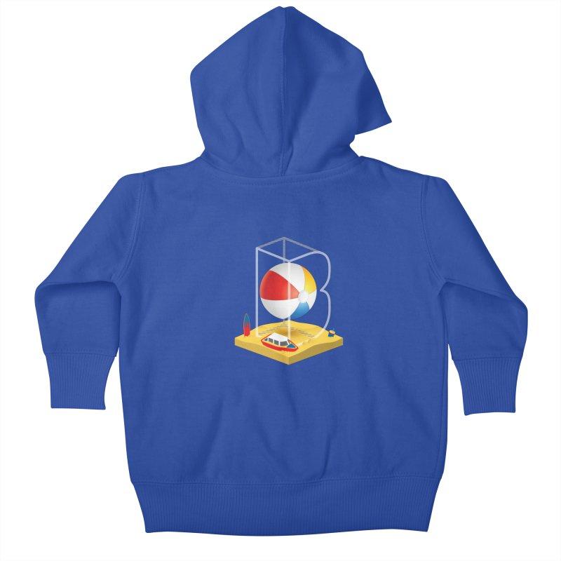 B is for,,, Kids Baby Zip-Up Hoody by Rocket Artist Shop
