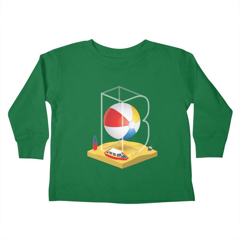 B is for,,, Kids Toddler Longsleeve T-Shirt by Rocket Artist Shop
