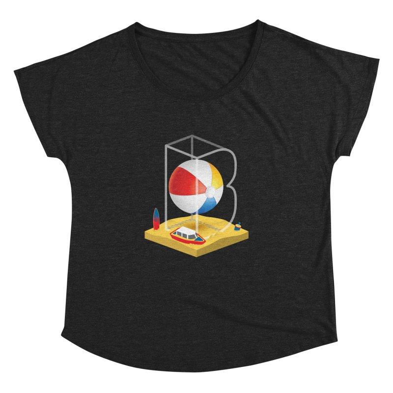 B is for,,, Women's Dolman Scoop Neck by Rocket Artist Shop