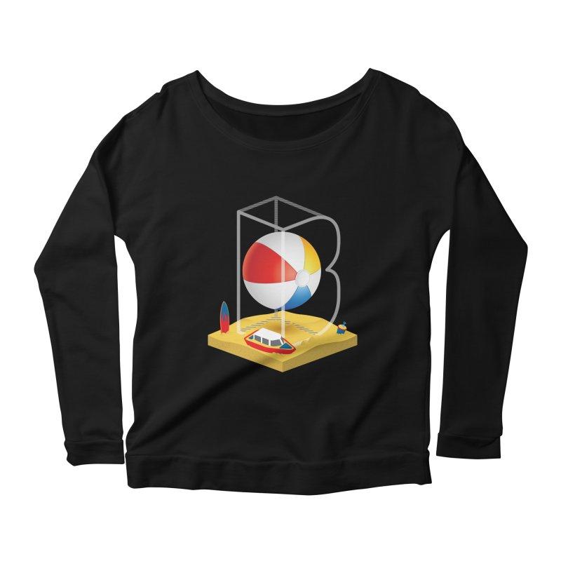 B is for,,, Women's Scoop Neck Longsleeve T-Shirt by Rocket Artist Shop