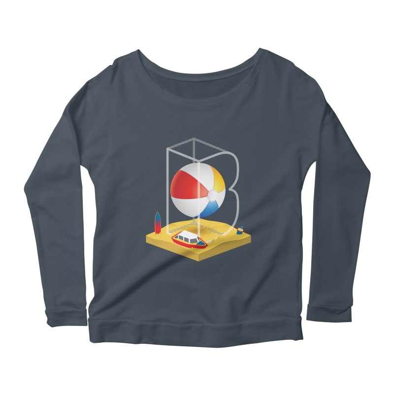 B is for,,, Women's Scoop Neck Longsleeve T-Shirt by Rocket Artist Shop