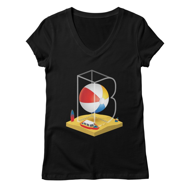 B is for,,, Women's Regular V-Neck by Rocket Artist Shop