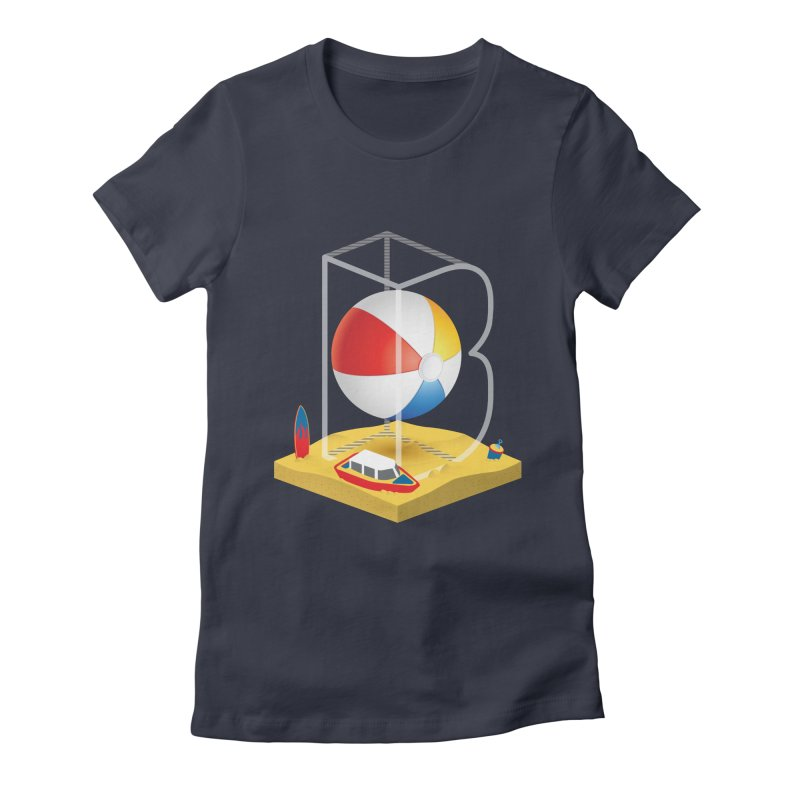 B is for,,, Women's Fitted T-Shirt by Rocket Artist Shop