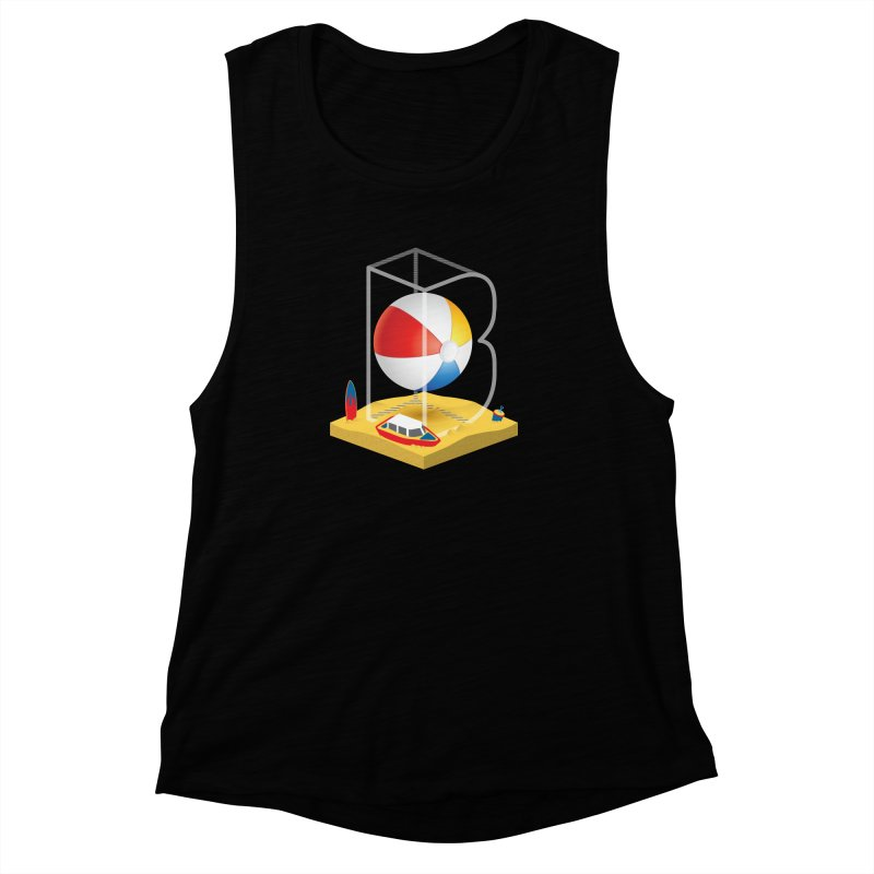 B is for,,, Women's Muscle Tank by Rocket Artist Shop