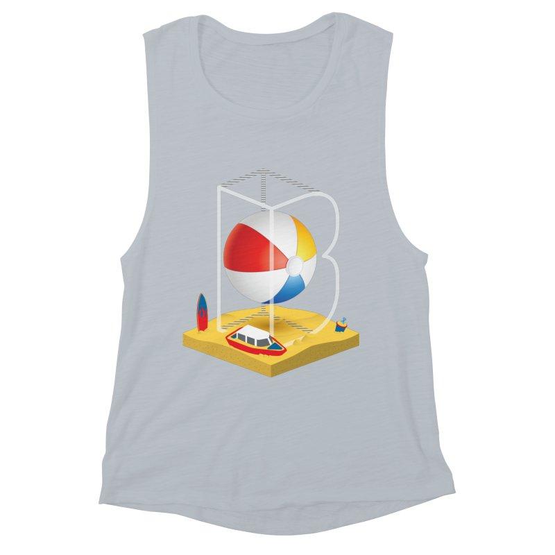 B is for,,, Women's Muscle Tank by Rocket Artist Shop